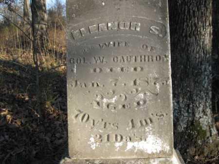 CAUTHRON, ELEANOR S - Logan County, Arkansas | ELEANOR S CAUTHRON - Arkansas Gravestone Photos