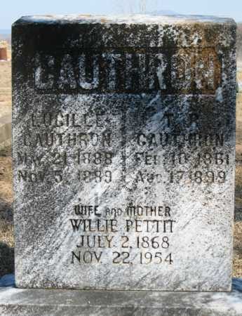 CAUTHRON, T. R. - Logan County, Arkansas | T. R. CAUTHRON - Arkansas Gravestone Photos