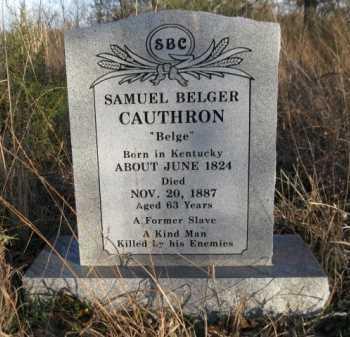 "CAUTHRON, SAMUEL BELGER ""BELGE"" - Logan County, Arkansas | SAMUEL BELGER ""BELGE"" CAUTHRON - Arkansas Gravestone Photos"