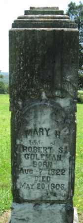 COLEMAN, MARY H. - Logan County, Arkansas | MARY H. COLEMAN - Arkansas Gravestone Photos