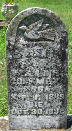 COLEMAN, OSA - Logan County, Arkansas | OSA COLEMAN - Arkansas Gravestone Photos