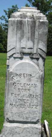 COLEMAN, ROBERT S. - Logan County, Arkansas   ROBERT S. COLEMAN - Arkansas Gravestone Photos
