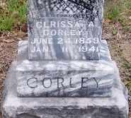 CORLEY, CLARISSA A (CLOSE UP) - Logan County, Arkansas | CLARISSA A (CLOSE UP) CORLEY - Arkansas Gravestone Photos