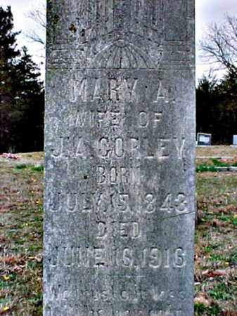 CORLEY, MARY ANNA - Logan County, Arkansas   MARY ANNA CORLEY - Arkansas Gravestone Photos