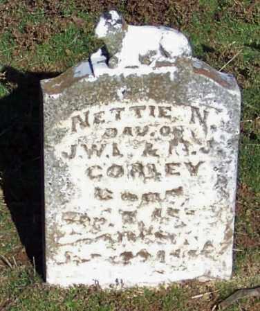 CORLEY, NETTIE N - Logan County, Arkansas | NETTIE N CORLEY - Arkansas Gravestone Photos