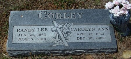 CORLEY, CAROLYN ANN  - Logan County, Arkansas | CAROLYN ANN  CORLEY - Arkansas Gravestone Photos