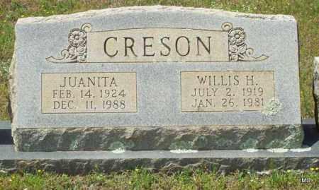 CRESON, WILLIS H - Logan County, Arkansas | WILLIS H CRESON - Arkansas Gravestone Photos