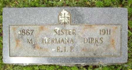 DIRKS, SISTER M HERMANA - Logan County, Arkansas   SISTER M HERMANA DIRKS - Arkansas Gravestone Photos