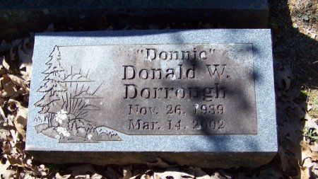 "DORROUGH, DONALD W  ""DONNIE - Logan County, Arkansas | DONALD W  ""DONNIE DORROUGH - Arkansas Gravestone Photos"