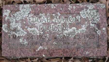 DUREN, EDGAR AARON - Logan County, Arkansas   EDGAR AARON DUREN - Arkansas Gravestone Photos
