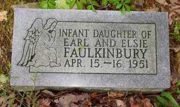 FAULKINBURY, INFANT DAUGHTER - Logan County, Arkansas | INFANT DAUGHTER FAULKINBURY - Arkansas Gravestone Photos