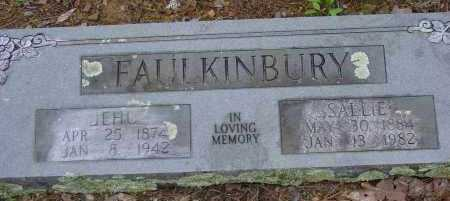 FAULKINBURY, SALLIE - Logan County, Arkansas | SALLIE FAULKINBURY - Arkansas Gravestone Photos