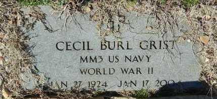 GRIST (VETERAN WWII), CECIL BURL - Logan County, Arkansas   CECIL BURL GRIST (VETERAN WWII) - Arkansas Gravestone Photos