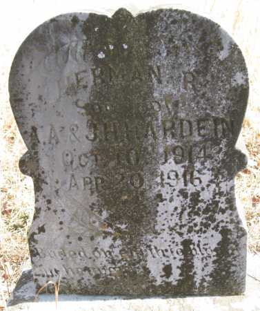 HARDEIN (HARDIN), HERMAN R - Logan County, Arkansas | HERMAN R HARDEIN (HARDIN) - Arkansas Gravestone Photos