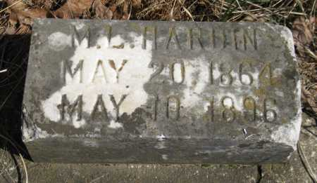 HARDIN, M L - Logan County, Arkansas | M L HARDIN - Arkansas Gravestone Photos