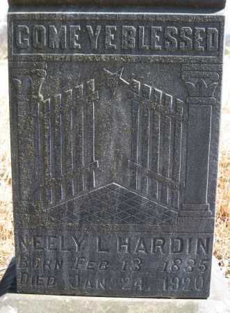 HARDIN, NEELY L.(CLOSEUP) - Logan County, Arkansas   NEELY L.(CLOSEUP) HARDIN - Arkansas Gravestone Photos