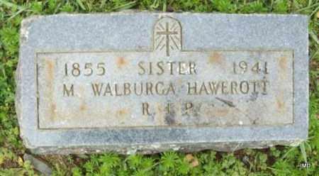 HAWEROIT, SISTER M WALBURGA - Logan County, Arkansas   SISTER M WALBURGA HAWEROIT - Arkansas Gravestone Photos