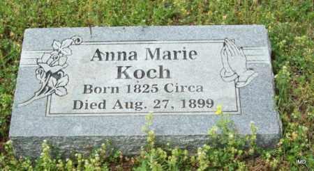 KOCH, ANNA MARIE - Logan County, Arkansas | ANNA MARIE KOCH - Arkansas Gravestone Photos