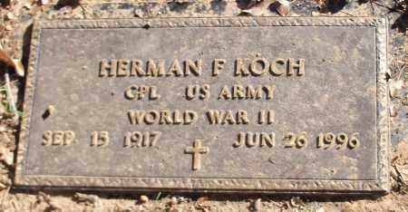 KOCH (VETERAN WWII), HERMAN F - Logan County, Arkansas | HERMAN F KOCH (VETERAN WWII) - Arkansas Gravestone Photos