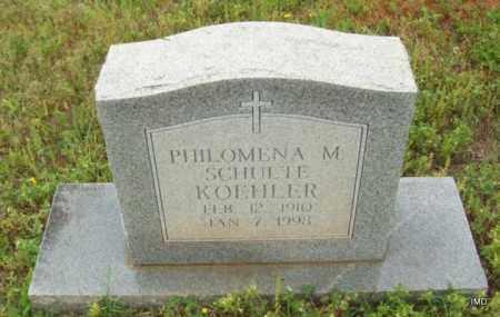 KOEHLER, PHILOMENA M - Logan County, Arkansas   PHILOMENA M KOEHLER - Arkansas Gravestone Photos