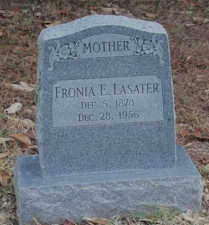 LASATER, FRONIA E - Logan County, Arkansas   FRONIA E LASATER - Arkansas Gravestone Photos