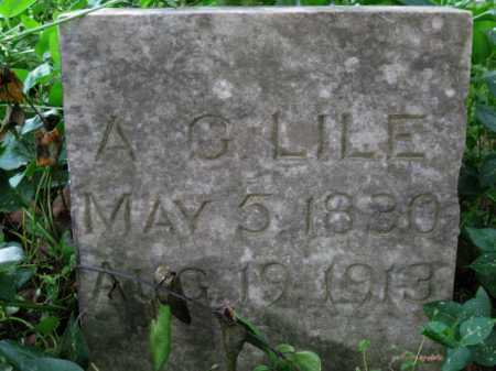 LILE, A G - Logan County, Arkansas   A G LILE - Arkansas Gravestone Photos