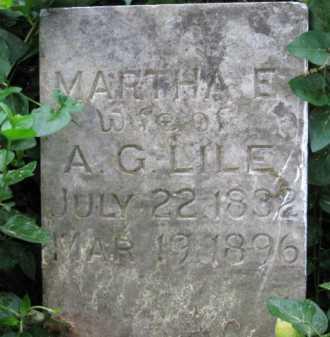 LILE, MARTHA E - Logan County, Arkansas | MARTHA E LILE - Arkansas Gravestone Photos