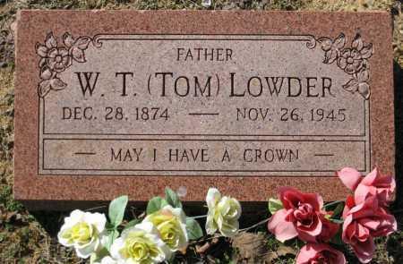 LOWDER, W. T. (TOM) - Logan County, Arkansas   W. T. (TOM) LOWDER - Arkansas Gravestone Photos