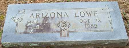 LOWE, ARIZONA - Logan County, Arkansas | ARIZONA LOWE - Arkansas Gravestone Photos