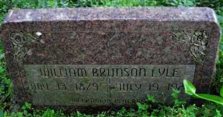 LYLE, WILLIAM BRUNSON - Logan County, Arkansas | WILLIAM BRUNSON LYLE - Arkansas Gravestone Photos