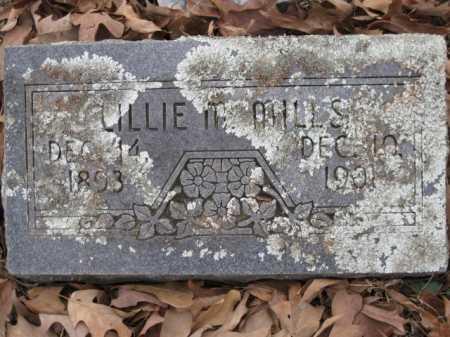 MILLS, LILLIE M - Logan County, Arkansas   LILLIE M MILLS - Arkansas Gravestone Photos
