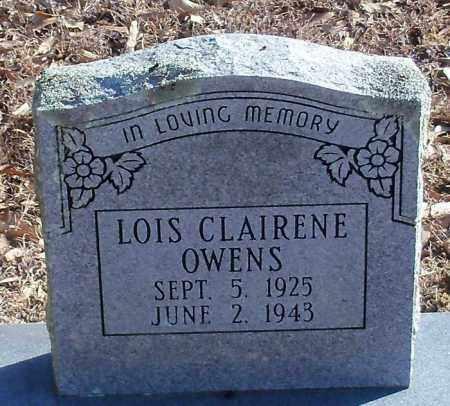 OWENS, LOIS CLAIRENE - Logan County, Arkansas   LOIS CLAIRENE OWENS - Arkansas Gravestone Photos
