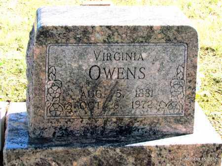 OWENS, VIRGINIA - Logan County, Arkansas   VIRGINIA OWENS - Arkansas Gravestone Photos
