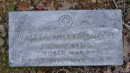 PHELPS (VETERAN WWI), WALTER MILLER - Logan County, Arkansas | WALTER MILLER PHELPS (VETERAN WWI) - Arkansas Gravestone Photos