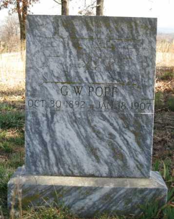 POFF, G  W - Logan County, Arkansas | G  W POFF - Arkansas Gravestone Photos