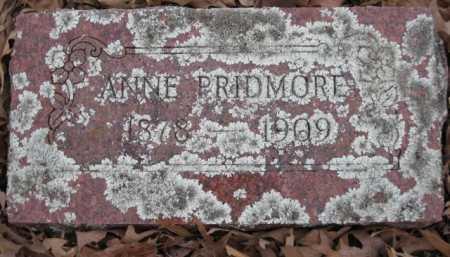 PRIDMORE, ANNE - Logan County, Arkansas | ANNE PRIDMORE - Arkansas Gravestone Photos