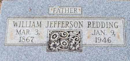 REDDING, WILLIAM JEFFERSON - Logan County, Arkansas | WILLIAM JEFFERSON REDDING - Arkansas Gravestone Photos