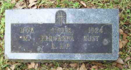 RUST, SISTER M BERNARDA - Logan County, Arkansas | SISTER M BERNARDA RUST - Arkansas Gravestone Photos