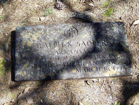 SADLER (VETERAN SAW), RALPH KLYDE  - Logan County, Arkansas   RALPH KLYDE  SADLER (VETERAN SAW) - Arkansas Gravestone Photos