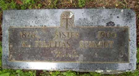 SCHMIDT, SISTER M FELICITAS - Logan County, Arkansas | SISTER M FELICITAS SCHMIDT - Arkansas Gravestone Photos