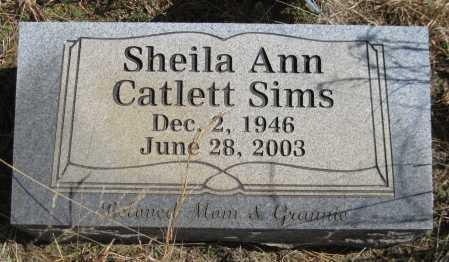 CATLETT SIMMS, SHEILA ANN - Logan County, Arkansas | SHEILA ANN CATLETT SIMMS - Arkansas Gravestone Photos