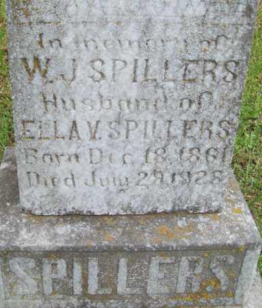 SPILLERS, W. J. (CLOSEUP) - Logan County, Arkansas | W. J. (CLOSEUP) SPILLERS - Arkansas Gravestone Photos