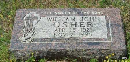 USHER, WILLIAM JOHN - Logan County, Arkansas | WILLIAM JOHN USHER - Arkansas Gravestone Photos