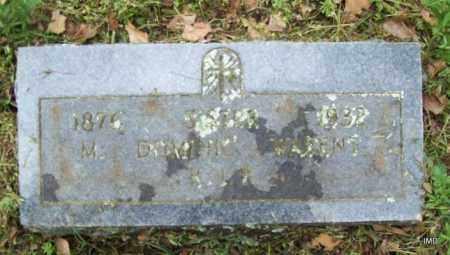WARENT, SISTER M DOMINIC - Logan County, Arkansas | SISTER M DOMINIC WARENT - Arkansas Gravestone Photos