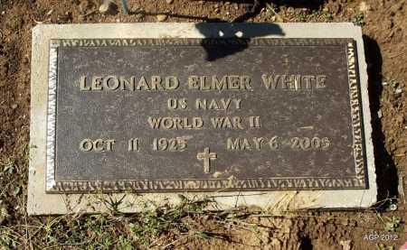 WHITE (VETERAN WWII), LEONARD ELMER - Logan County, Arkansas | LEONARD ELMER WHITE (VETERAN WWII) - Arkansas Gravestone Photos