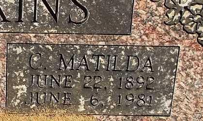 WILKINS, C MATILDA - Logan County, Arkansas | C MATILDA WILKINS - Arkansas Gravestone Photos