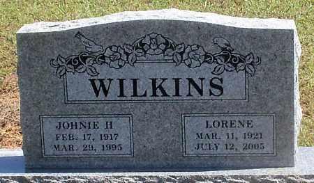 WILKINS, JOHNIE H - Logan County, Arkansas | JOHNIE H WILKINS - Arkansas Gravestone Photos