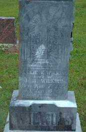 "WILKINS, MARY E ""MOLLIE"" (CLOSEUP) - Logan County, Arkansas | MARY E ""MOLLIE"" (CLOSEUP) WILKINS - Arkansas Gravestone Photos"