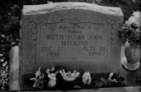 WILKINS, RUTH MARY ANN - Logan County, Arkansas   RUTH MARY ANN WILKINS - Arkansas Gravestone Photos
