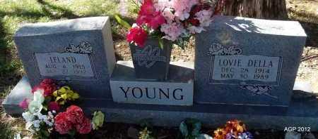 YOUNG, LOVIE DELLA - Logan County, Arkansas   LOVIE DELLA YOUNG - Arkansas Gravestone Photos